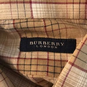 👕 SALE!! Burberry classy men's long sleeves shirt